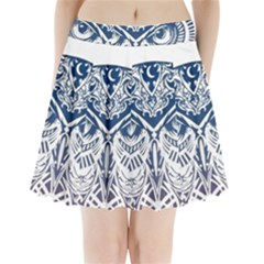 Owl Pleated Mini Skirt
