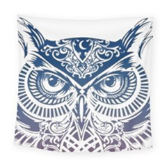 Owl Square Tapestry (large)