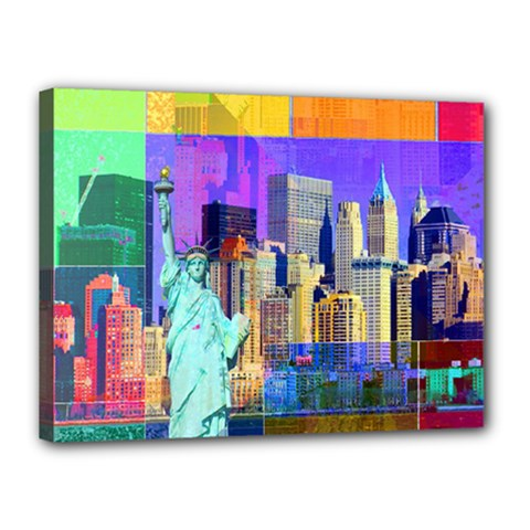New York City The Statue Of Liberty Canvas 16  X 12