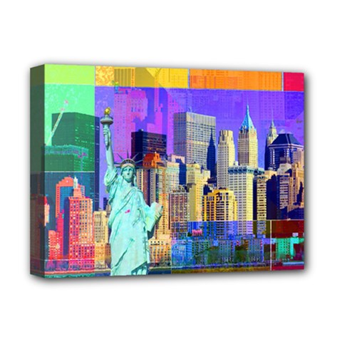 New York City The Statue Of Liberty Deluxe Canvas 16  X 12