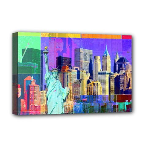 New York City The Statue Of Liberty Deluxe Canvas 18  x 12