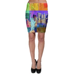 New York City The Statue Of Liberty Bodycon Skirt