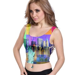 New York City The Statue Of Liberty Crop Top
