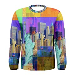 New York City The Statue Of Liberty Men s Long Sleeve Tee