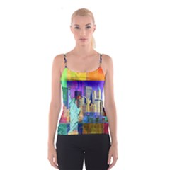 New York City The Statue Of Liberty Spaghetti Strap Top