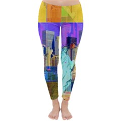 New York City The Statue Of Liberty Classic Winter Leggings