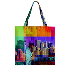 New York City The Statue Of Liberty Zipper Grocery Tote Bag