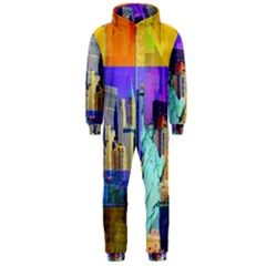 New York City The Statue Of Liberty Hooded Jumpsuit (Men)