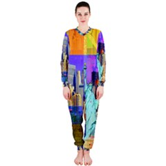 New York City The Statue Of Liberty Onepiece Jumpsuit (ladies)