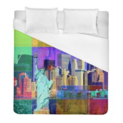 New York City The Statue Of Liberty Duvet Cover (full/ Double Size)
