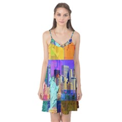 New York City The Statue Of Liberty Camis Nightgown