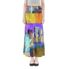 New York City The Statue Of Liberty Maxi Skirts