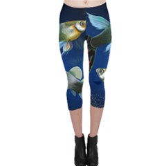 Marine Fishes Capri Leggings