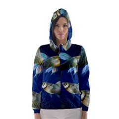Marine Fishes Hooded Wind Breaker (women)