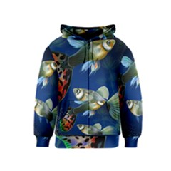 Marine Fishes Kids  Zipper Hoodie