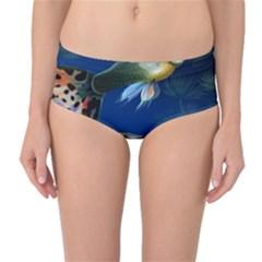 Marine Fishes Mid Waist Bikini Bottoms