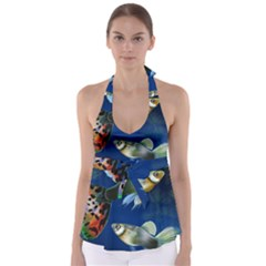 Marine Fishes Babydoll Tankini Top