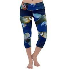 Marine Fishes Capri Yoga Leggings