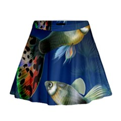 Marine Fishes Mini Flare Skirt