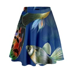 Marine Fishes High Waist Skirt