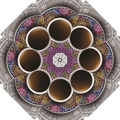 Ethnic Pattern Ornaments And Coffee Cups Vector Hook Handle Umbrellas (small)