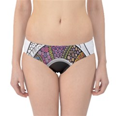 Ethnic Pattern Ornaments And Coffee Cups Vector Hipster Bikini Bottoms