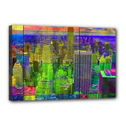 New York City Skyline Canvas 18  X 12