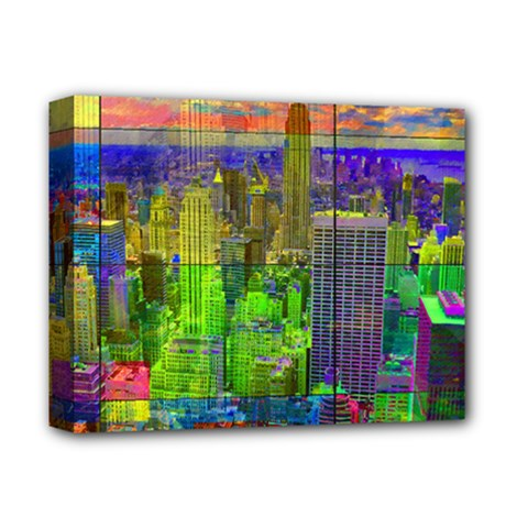 New York City Skyline Deluxe Canvas 14  x 11
