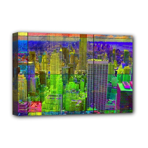 New York City Skyline Deluxe Canvas 18  X 12