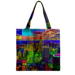New York City Skyline Grocery Tote Bag