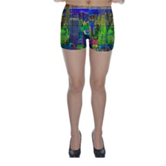 New York City Skyline Skinny Shorts