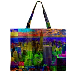 New York City Skyline Zipper Mini Tote Bag