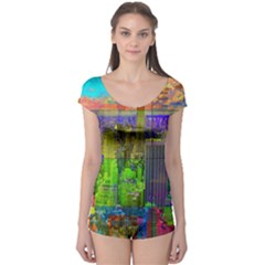 New York City Skyline Boyleg Leotard