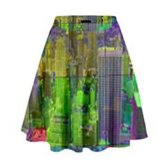 New York City Skyline High Waist Skirt