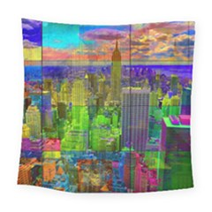 New York City Skyline Square Tapestry (large)