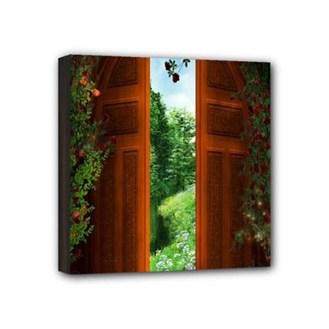 Beautiful World Entry Door Fantasy Mini Canvas 4  x 4