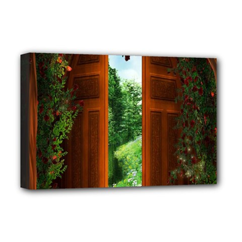 Beautiful World Entry Door Fantasy Deluxe Canvas 18  X 12