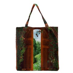 Beautiful World Entry Door Fantasy Grocery Tote Bag