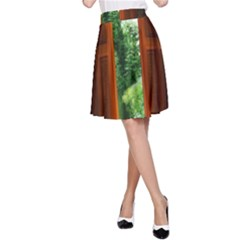 Beautiful World Entry Door Fantasy A Line Skirt
