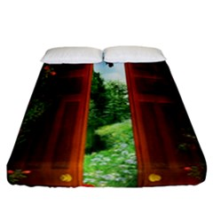 Beautiful World Entry Door Fantasy Fitted Sheet (california King Size)