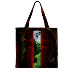 Beautiful World Entry Door Fantasy Zipper Grocery Tote Bag