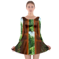 Beautiful World Entry Door Fantasy Long Sleeve Skater Dress