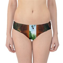 Beautiful World Entry Door Fantasy Hipster Bikini Bottoms