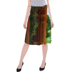 Beautiful World Entry Door Fantasy Midi Beach Skirt