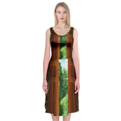Beautiful World Entry Door Fantasy Midi Sleeveless Dress