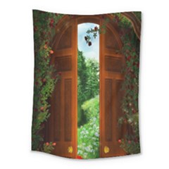Beautiful World Entry Door Fantasy Medium Tapestry