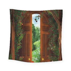 Beautiful World Entry Door Fantasy Square Tapestry (small)