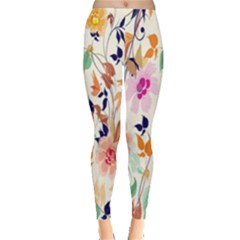 Vector Floral Art Leggings