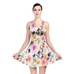 Vector Floral Art Reversible Skater Dress