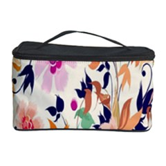 Vector Floral Art Cosmetic Storage Case